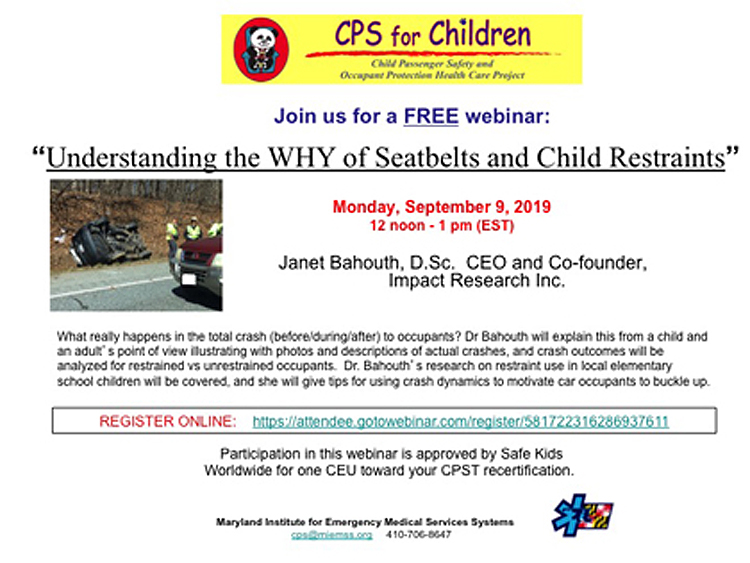 Child Passenger Safety & Occupant Protection Health Care Project